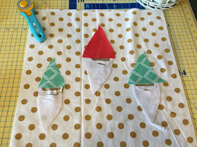Free Motion Applique Gnome Pillow Tutorial