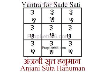 Hindu Vedic Astrology and Paranormal Yantra-Mantra Remedy for Sadi Sati