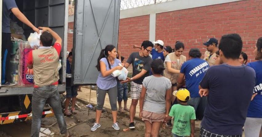 Ministerio de Cultura llevó víveres a damnificados por los huaicos e inundaciones - www.cultura.gob.pe