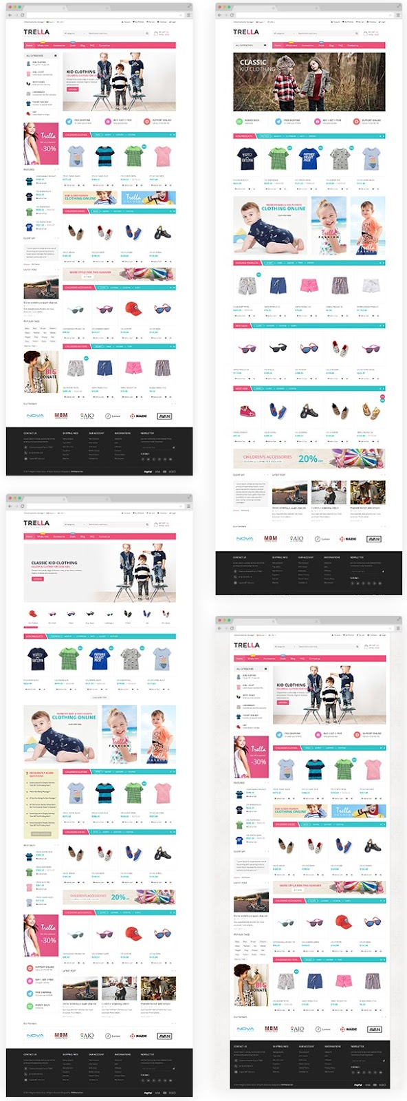Fresh and Clean Design Magento Theme