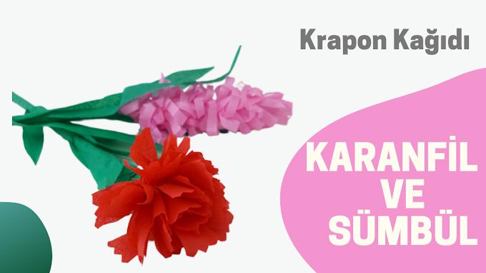 | Krapon kağıdından karanfil ve sümbül yapımı-VİDEO