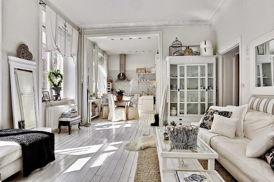 Interior apartamento en r stico chic afrancesado for Arredamenti al vo