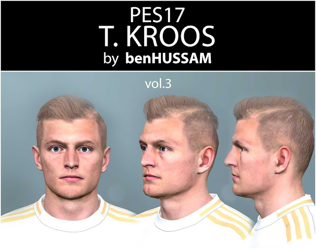 PES 2017 Toni Kroos Face by benHUSSAM