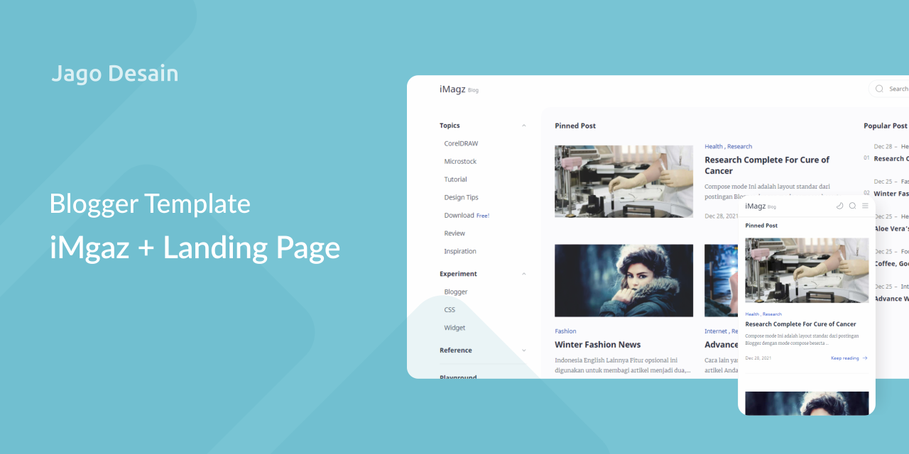 Blogger Template iMagz with Landing Page