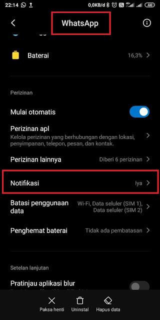 Cara memunculkan notifikasi popup WA
