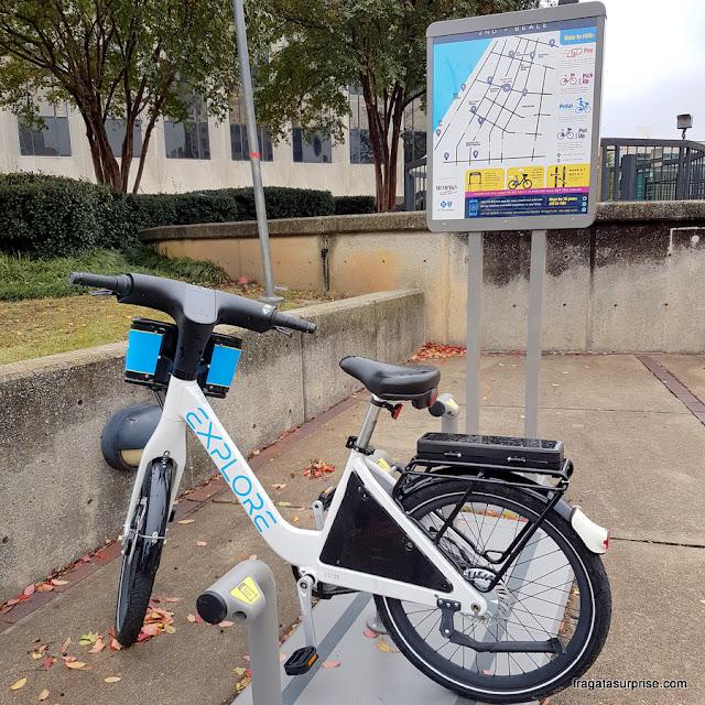 Serviço de bicicletas compartilhadas em Memphis