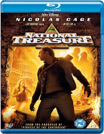 National Treasure (2004) Dual Audio Hindi 720p BluRay x264 850MB Movie Download