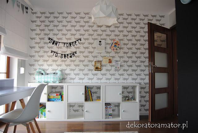 pokój dziecięcy, kidsroom, boysroom, pokój ucznia, pokój dziecka w stylu skandynawskim