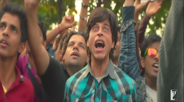 Fan (2016), Directed by Maneesh Sharma, Gaurav is awe-struck after watching Aryan Khanna live, Fan movie still