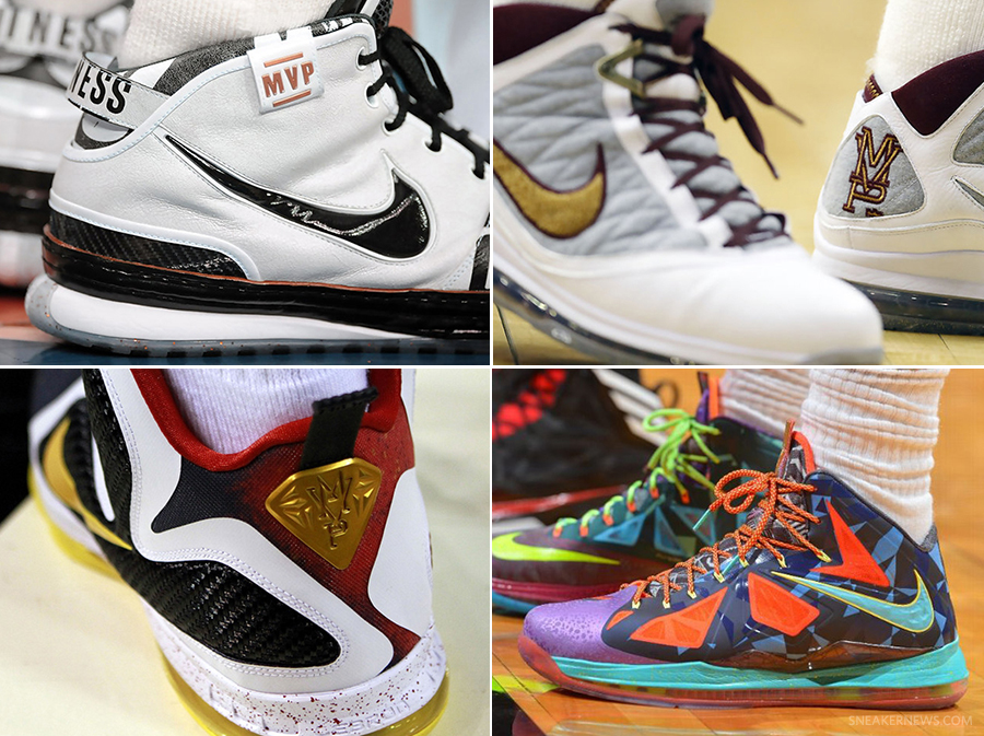 promo code a0a3f 2a2e5 Four LeBron James MVP Awards, Four Nike MVP Sneakers
