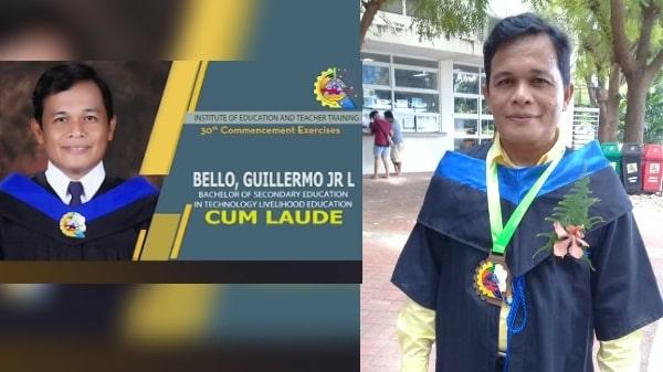 45-year-old aspiring teacher graduates cum laude