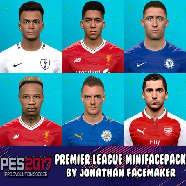 Premier League Facepack PES 2017