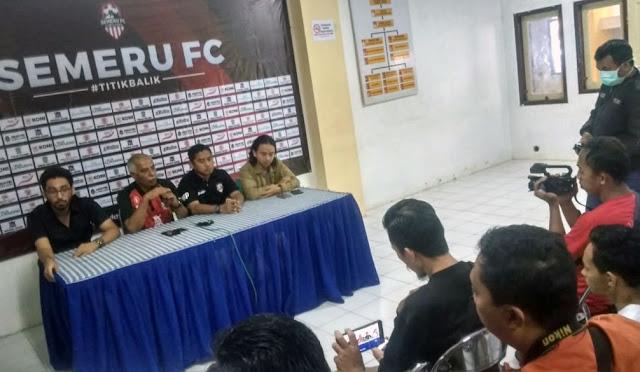 Konferensi pers Semeru FC