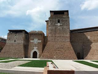 The remains of the Castel Sismondo, designed in part by the great architect Filippo Brunelleschi