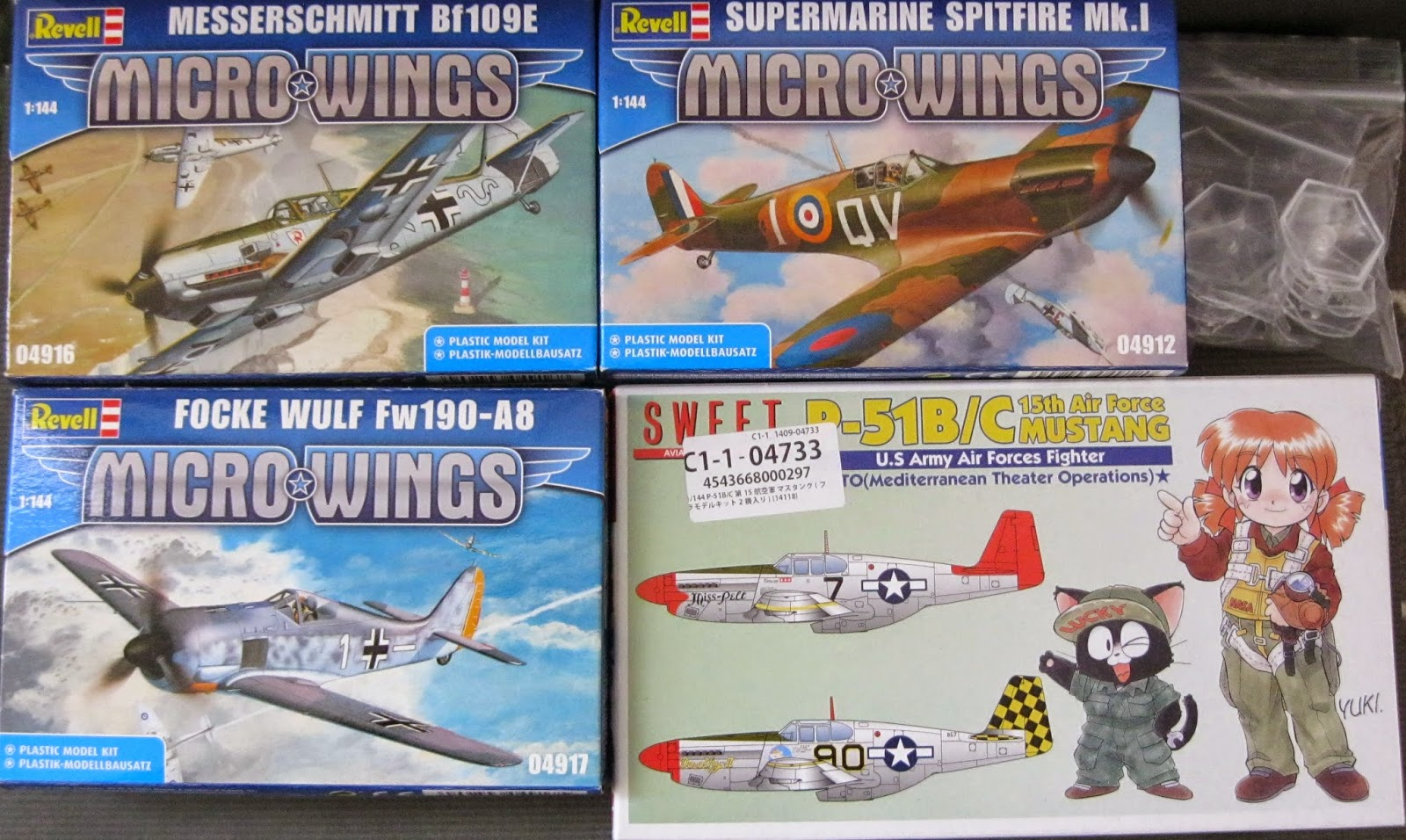 A Tale of Miniatures and Dice: WWII aviation 1/144 project