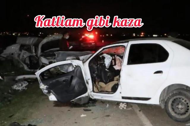 Urfa'da ki feci kazada 5 kişi öldü