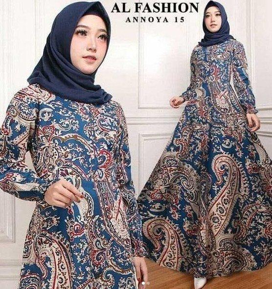 Model Baju Gamis Bermotif