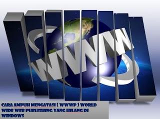 Cara Mengatasi World Wide Web Publishing yang hilang