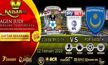 PREDIKSI BOLA TERPERCAYA COVENTRY CITY VS PORTSMOUTH 12 FEBRUARI 2020
