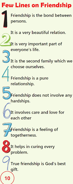 Short 10 Lines Essay on Friendship