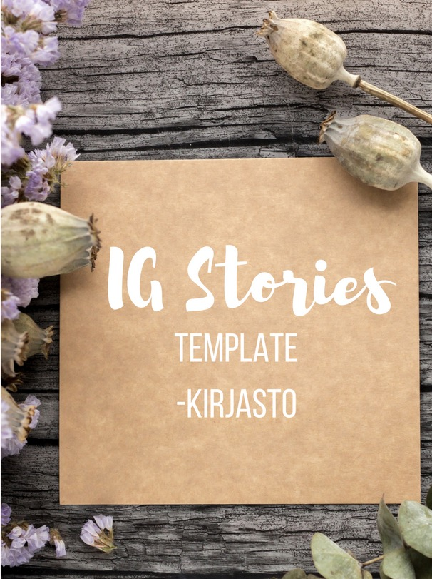 Instagram Stories template -kirjasto.