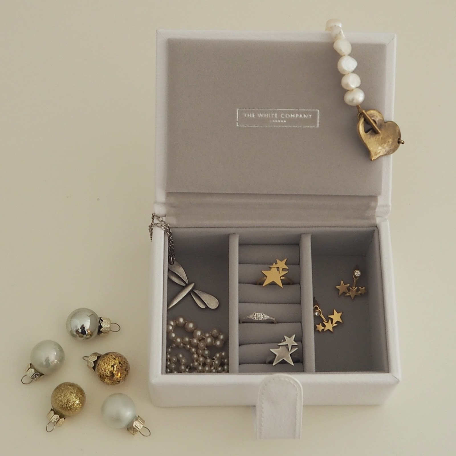 The White Company small leather travel jewellery box, Christmas gift guide