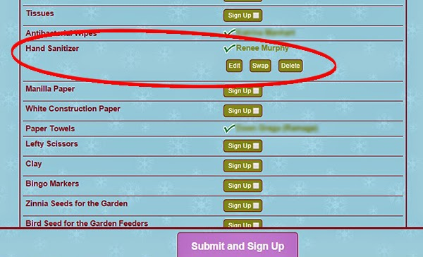 Sign Up Genius for Teacher Wish List