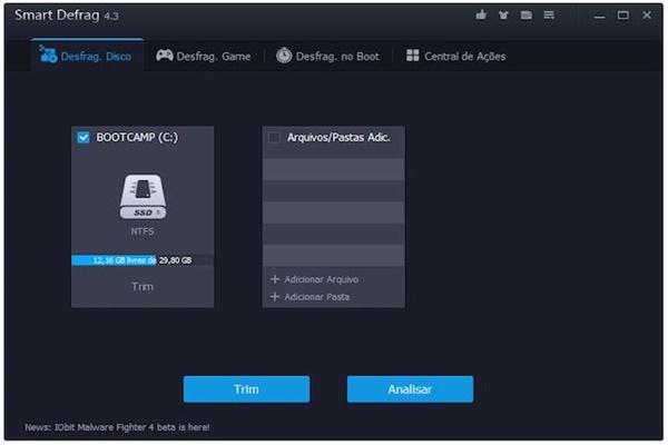 IObit Smart Defrag, programa gratuito de desfragmentação do disco