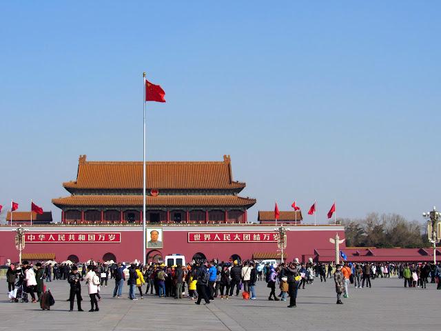 Vista del palacio de la Ciudad Prohibida de Beijing