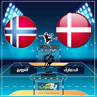 بث مباشر مشاهدة مباراة الدنمارك والنرويج لايف اليوم 27-1-2019 في نهائي كاس العالم لكرة اليد