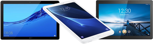 Huawei MediaPad T5 10 32 GB vs Samsung Galaxy Tab A 10.1 (2016) vs Lenovo Smart Tab M10 32 GB