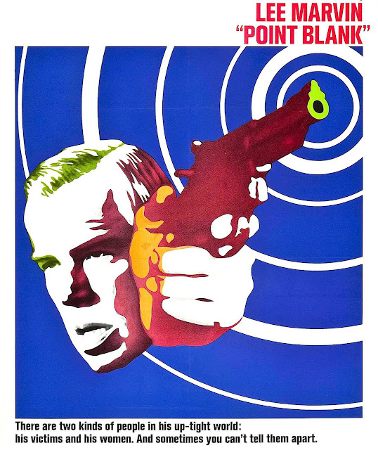 a film poster for Point Blank, a 1967 movie with Lee Marvin, radiating