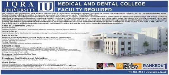 iqra-university-jobs-2020