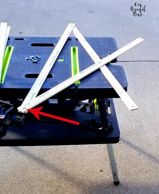 three yard sticks red arrow