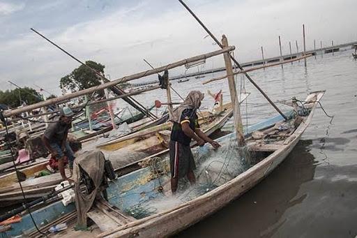 Cuaca Ekstrim, Nelayan di Kuala Jambi Libur Melaut
