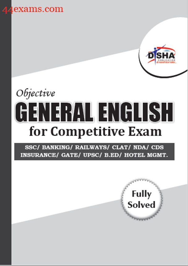 Objective General English By Disha Publication : For All Competitive Exam PDF Book