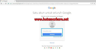 Halaman Login Blogspot