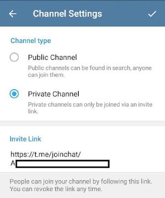 Cara buat channel pribadi telegram