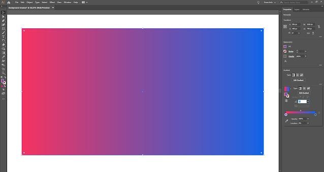 Gradasi warna di Adobe Illustrator terbaru