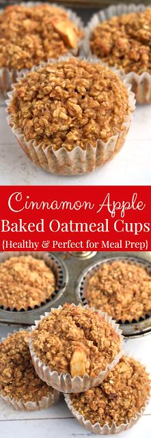 Cinnamon Apple Baked Oatmeal Cups
