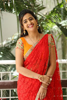 Lasya Cute Beauty in Saree Backless Choli at her Interview ~  Exclusive 128.JPG