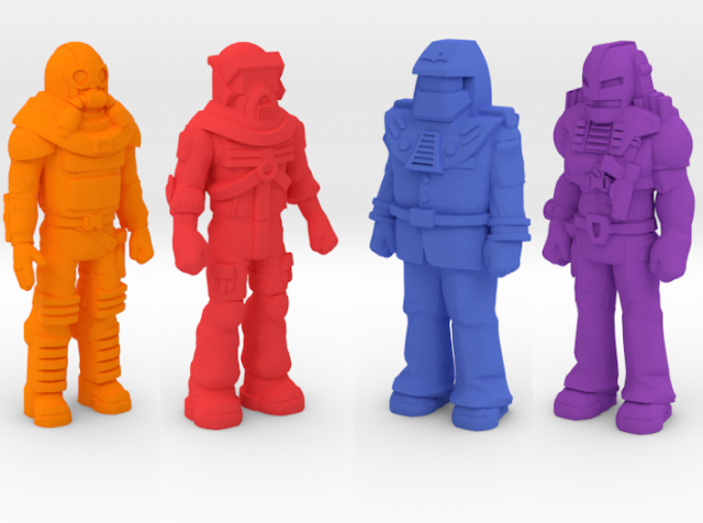 3D Printed M.A.S.K. Minature Figures