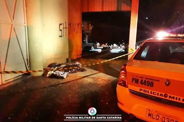 Morador de rua morto em Rio Negrinho