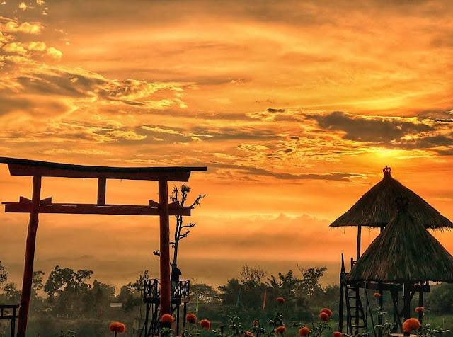 Spot Sunset Di Taman Jinja Bali