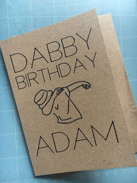 Dabby Birthday Card