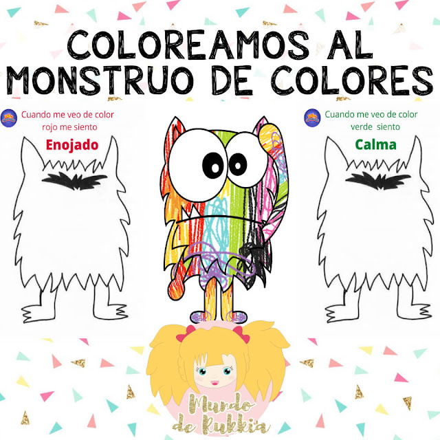 fichas-colorear-monstruo-colores