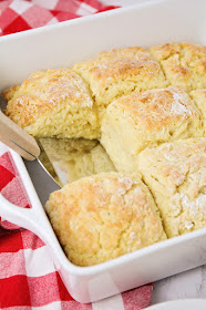 These mile high biscuits are so soft and fluffy, and ready in about 30 minutes. They're the perfect complement to soups or stews, and so delicious!