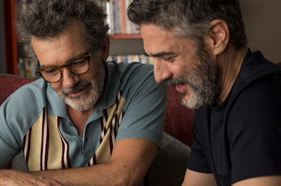 "Photo: In the semi-autobiographical, Academy Award-nominated film ""Pain and Glory,"" Salvador Mallo (Antonio Banderas) reunites with his long lost love, Federico Delgado (Leonardo Sbaraglia)."