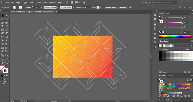 How to create Geometric Abstract Background in Adobe Illustrator