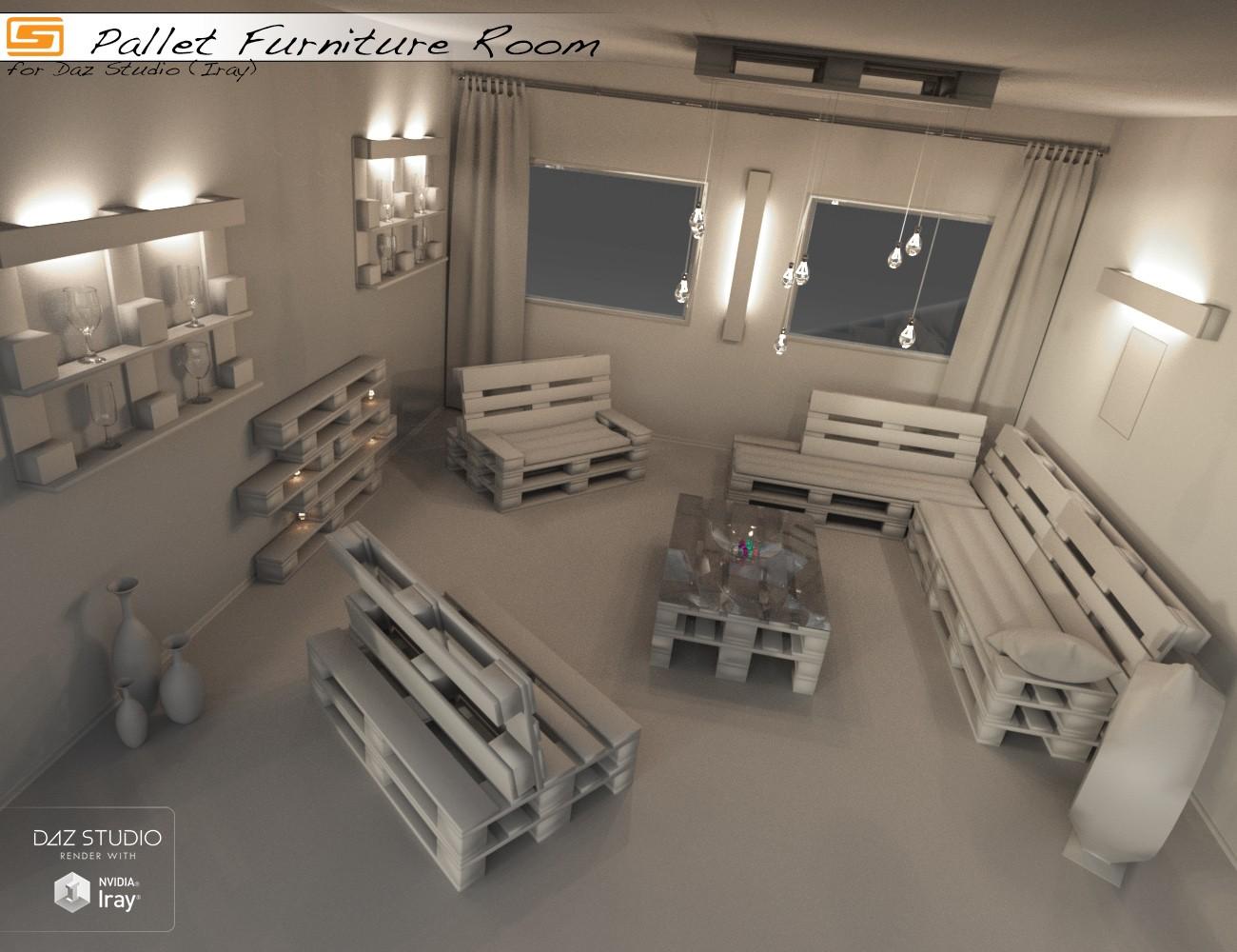 Download daz studio 3 for free daz 3d pallet furniture for Living room 2 for daz studio